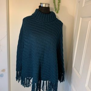 Forever21 knit Cable Turtleneck Poncho